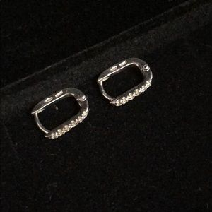Solid White Gold Earrings
